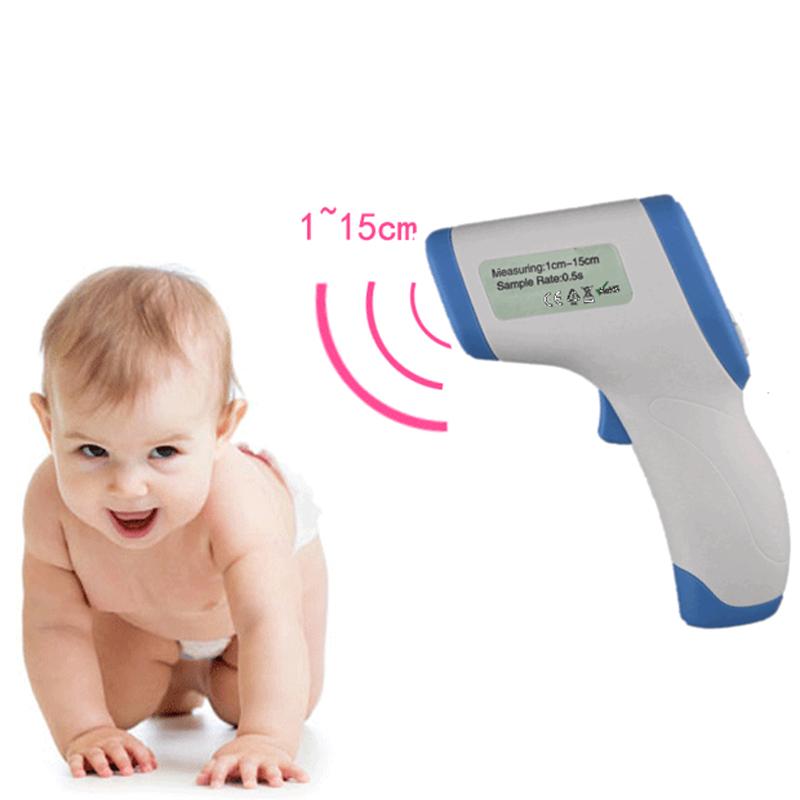 Érintés nélküli infrás, digitális lázmérő/hőmérő LCD kijelzővel - mérés 1mp
