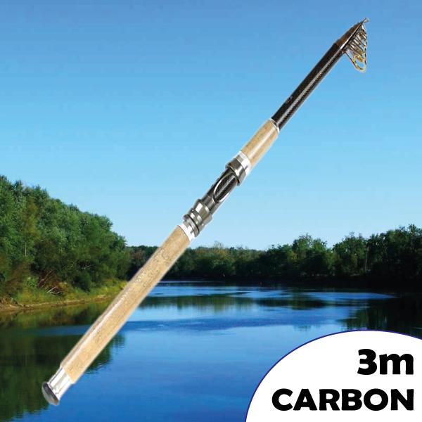 Teleszkópos karbon fenekező horgászbot 3m