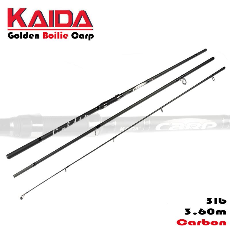 KAIDA Golden Carp Boilie Carbon bojlis bot 360cm 3lb