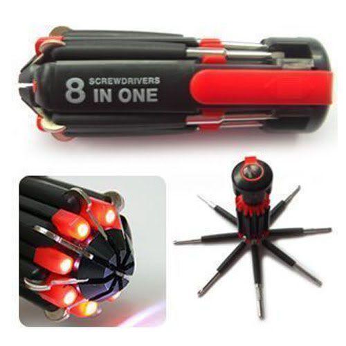 8IN1 multifunkciós LED-es csavarhúzó készlet