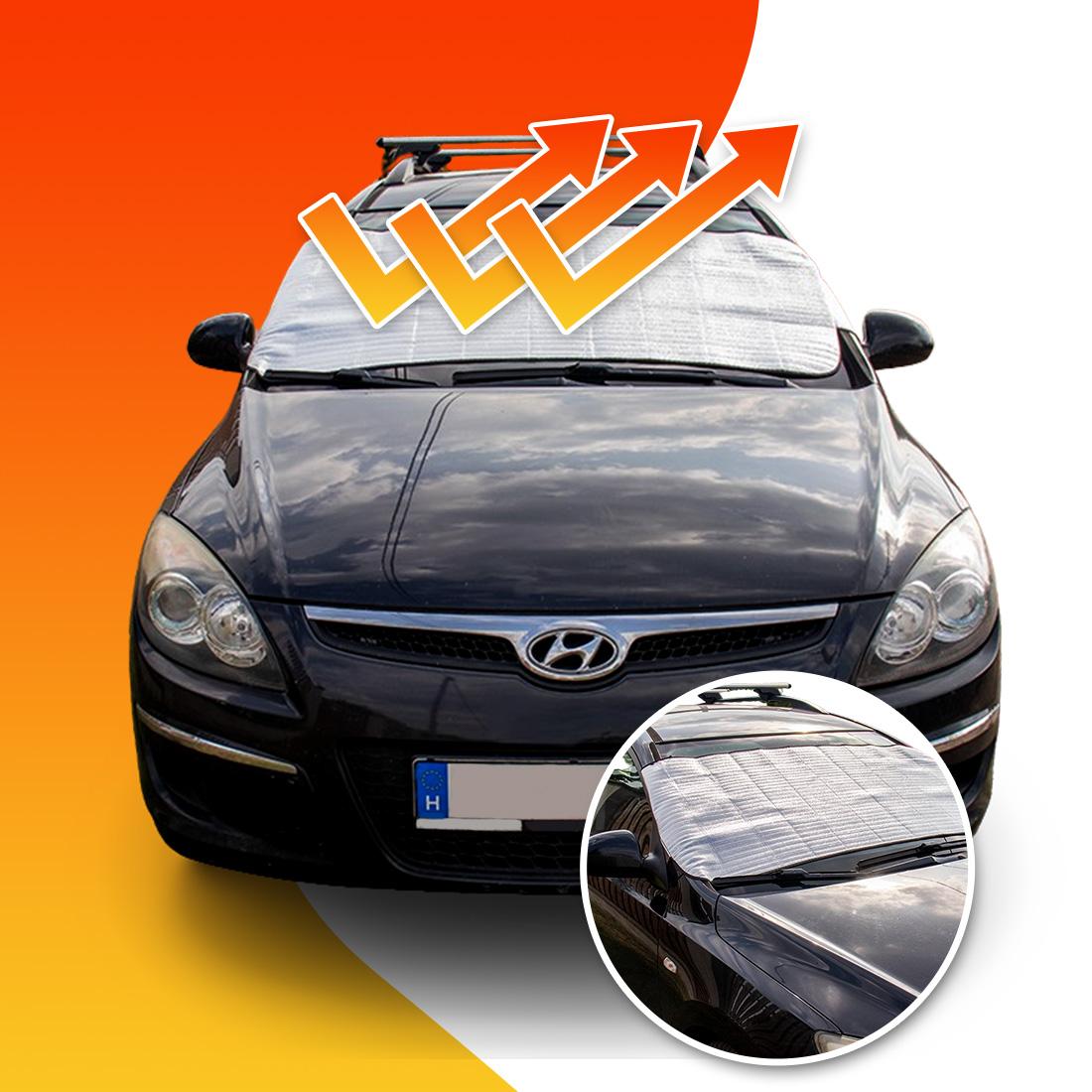 Hófólia/napfólia autó szélvédőre - nyáron a meleg ellen - télen a hó és a jég ellen