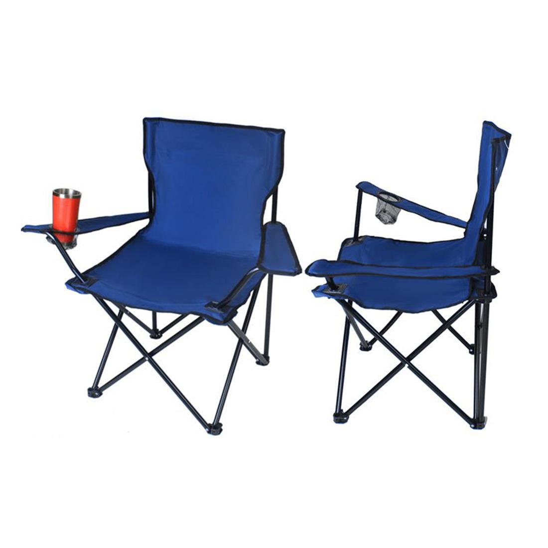 Italtartós kemping-horgász szék kék színben