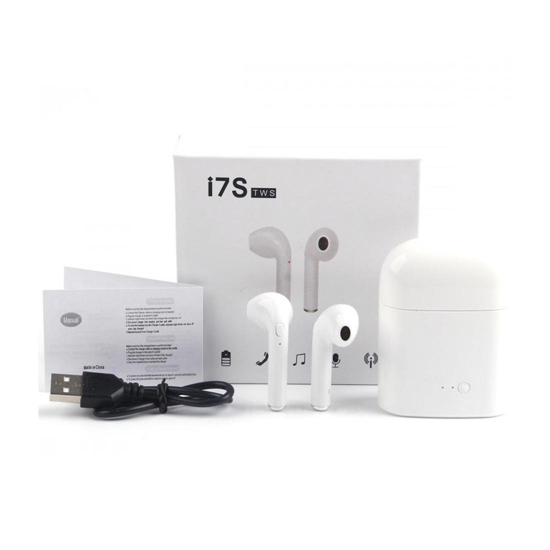i7S TWS vezeték nélküli bluetooth fülhallgató fehér