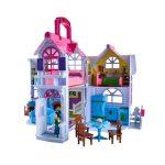 Nagy játékház 6 szobával, babával, kutyával és kiegészítőkkel1