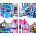 Nagy játékház 6 szobával, babával, kutyával és kiegészítőkkel2