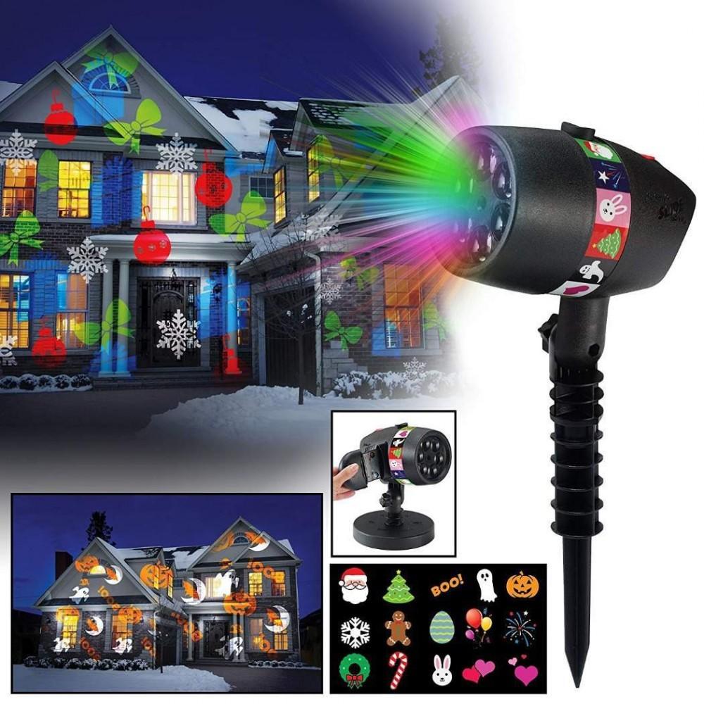 Lazer shower slideprojector karácsonyi fényjáték 12 mintával.