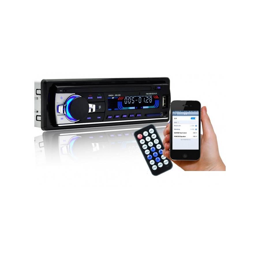 Bluetooth autórádió távirányítóval, MP3 lejátszás, USB/SD porttal