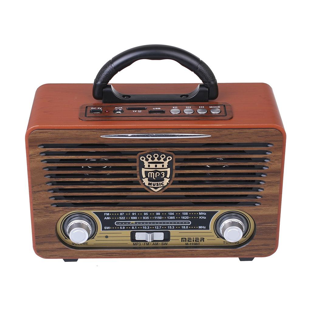 Meier M-111BT Retró FM Rádió (Bluetooth - SD - USB)