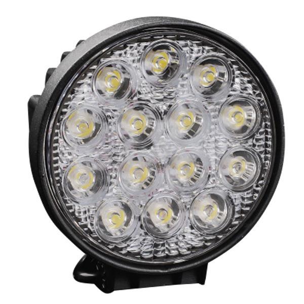 42W szuper erős kerek LED munkalámpa, szúrófény járművekre