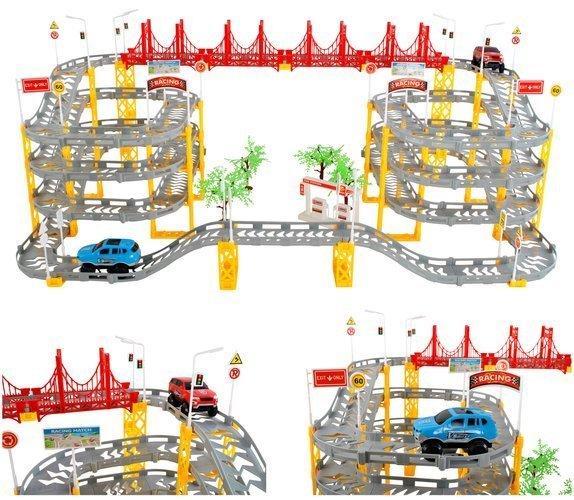 236 db-os több emeletes versenypálya játékautókkal - 8 méteres pályahossz (BB9434)