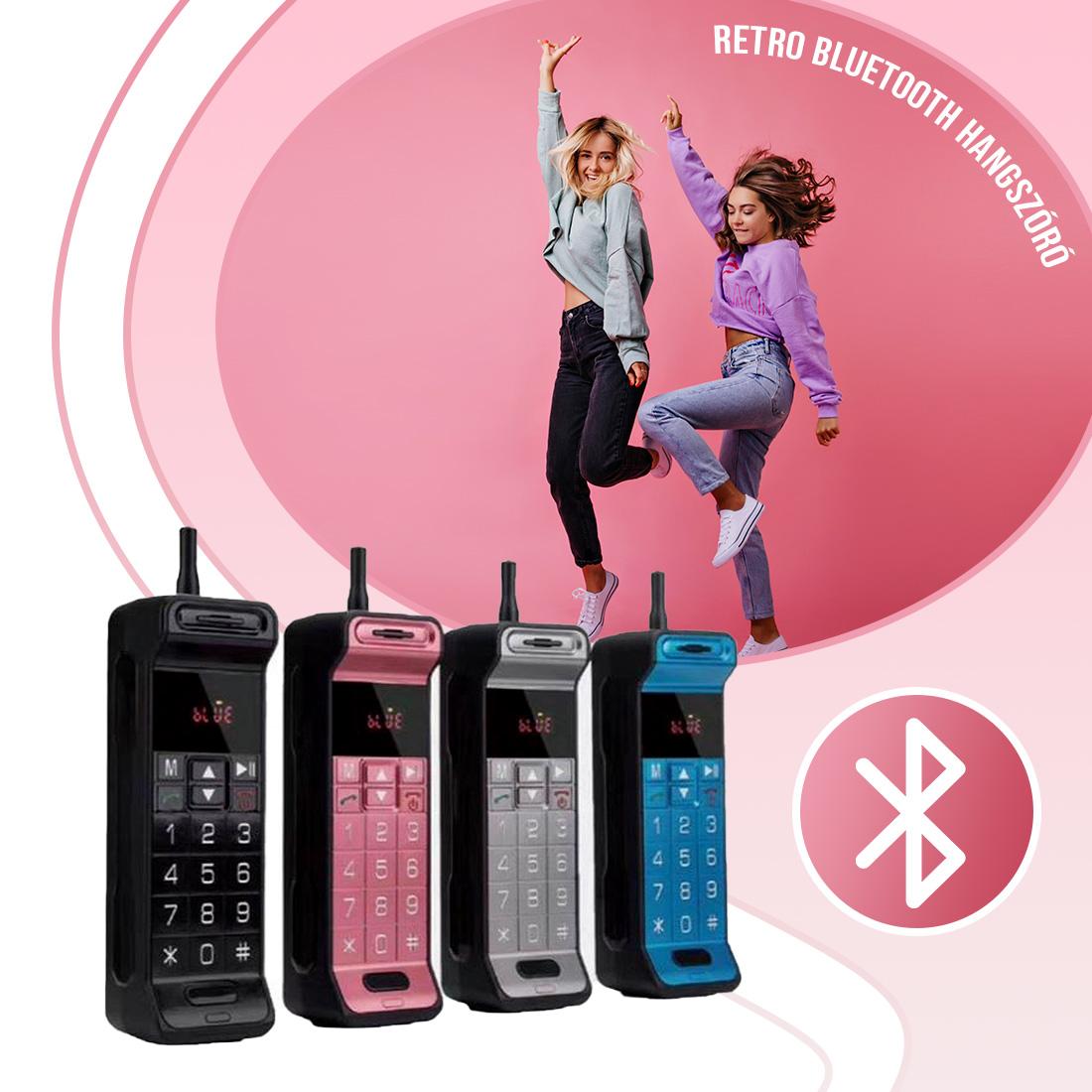 Retro mobiltelefon alakú Bluetooth hangszóró – KIMISO KMS-216