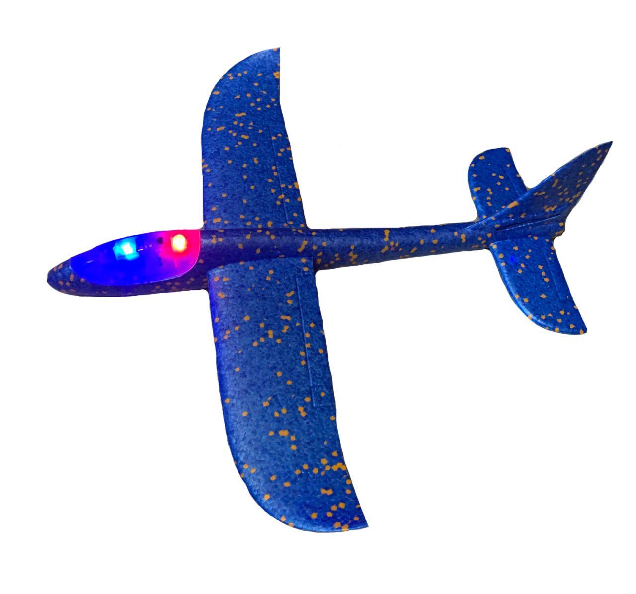 LED-es eldobós modellrepülő - hungarocell (48cm)