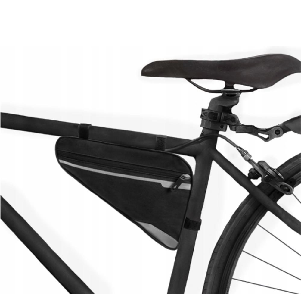 Kis méretű, sportos kerékpár táska fényvisszaverő elemekkel (BB14097)