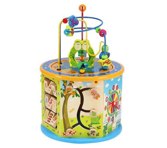 Fakockákból álló foglalkoztató játék kisbabáknak, 8 az 1-ben (BB7711)