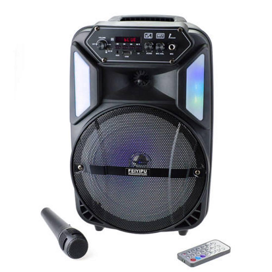 Hordozható bluetooth hangszóró mikrofonnal,távirányítóval (ES-M-B8)