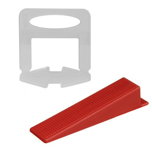 Burkolatszintező készlet (500 db 1,5 mm-es klipsz és 100 db ék) (BB15191)
