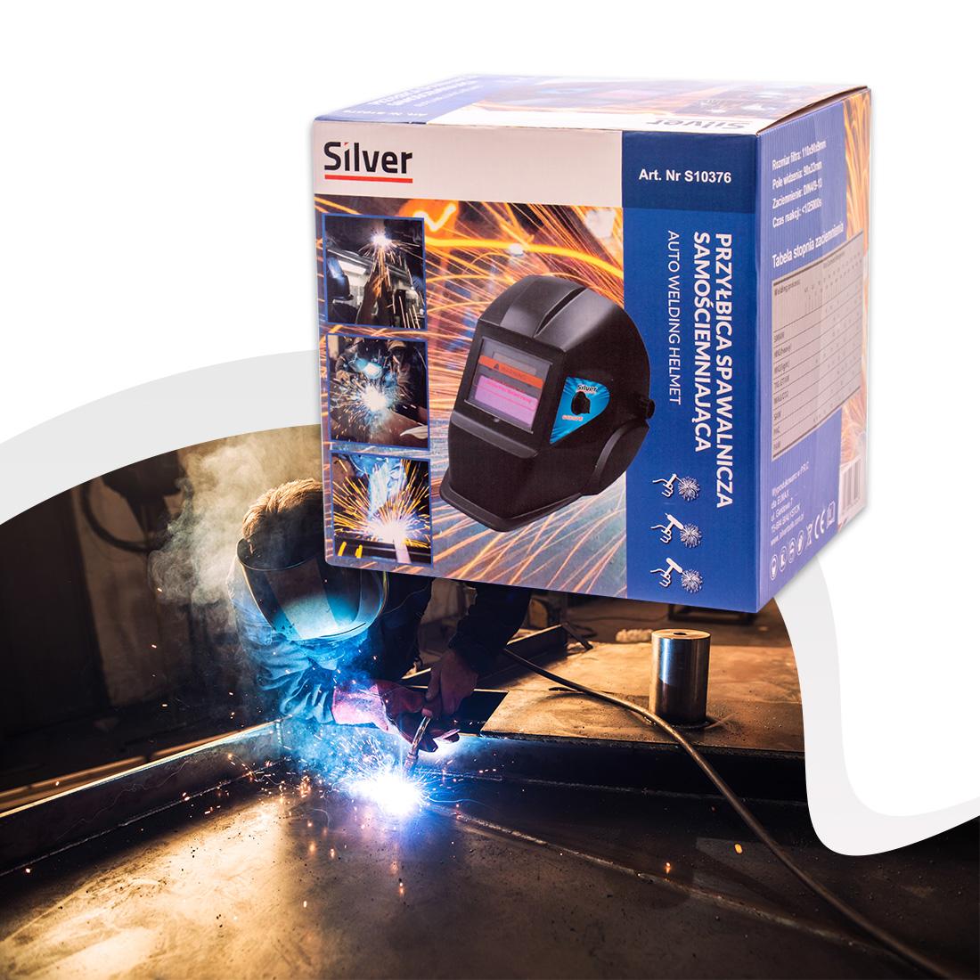Silver napelemes automata hegesztő pajzs