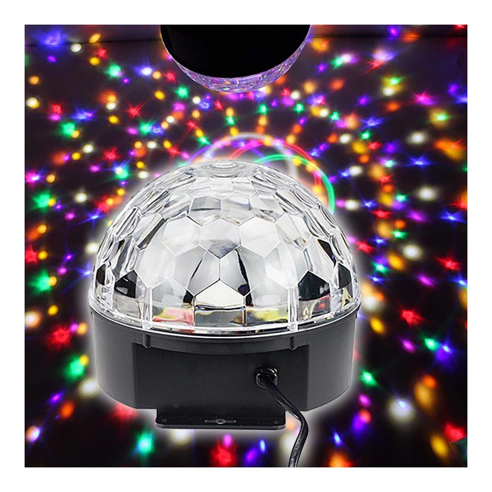 Bluetooth-os diszkógömb távirányítóval - LED kristálygömb, mp3 lejátszó és party fény