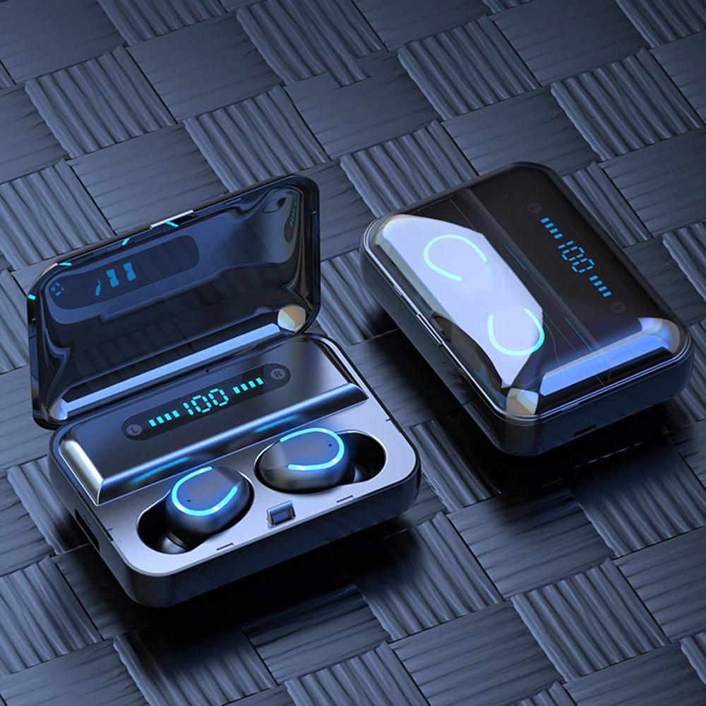 F9 TWS vezeték nélküli  Bluetooth fülhallgató akkus töltődobozzal