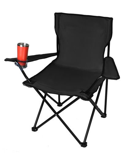 Italtartós kemping-horgász szék fekete színben (BB8001)