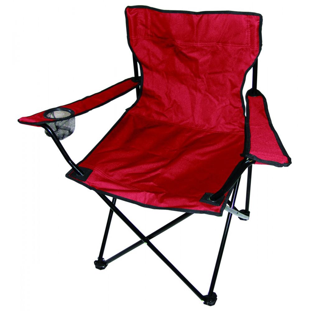 Italtartós kemping-horgász szék piros színben