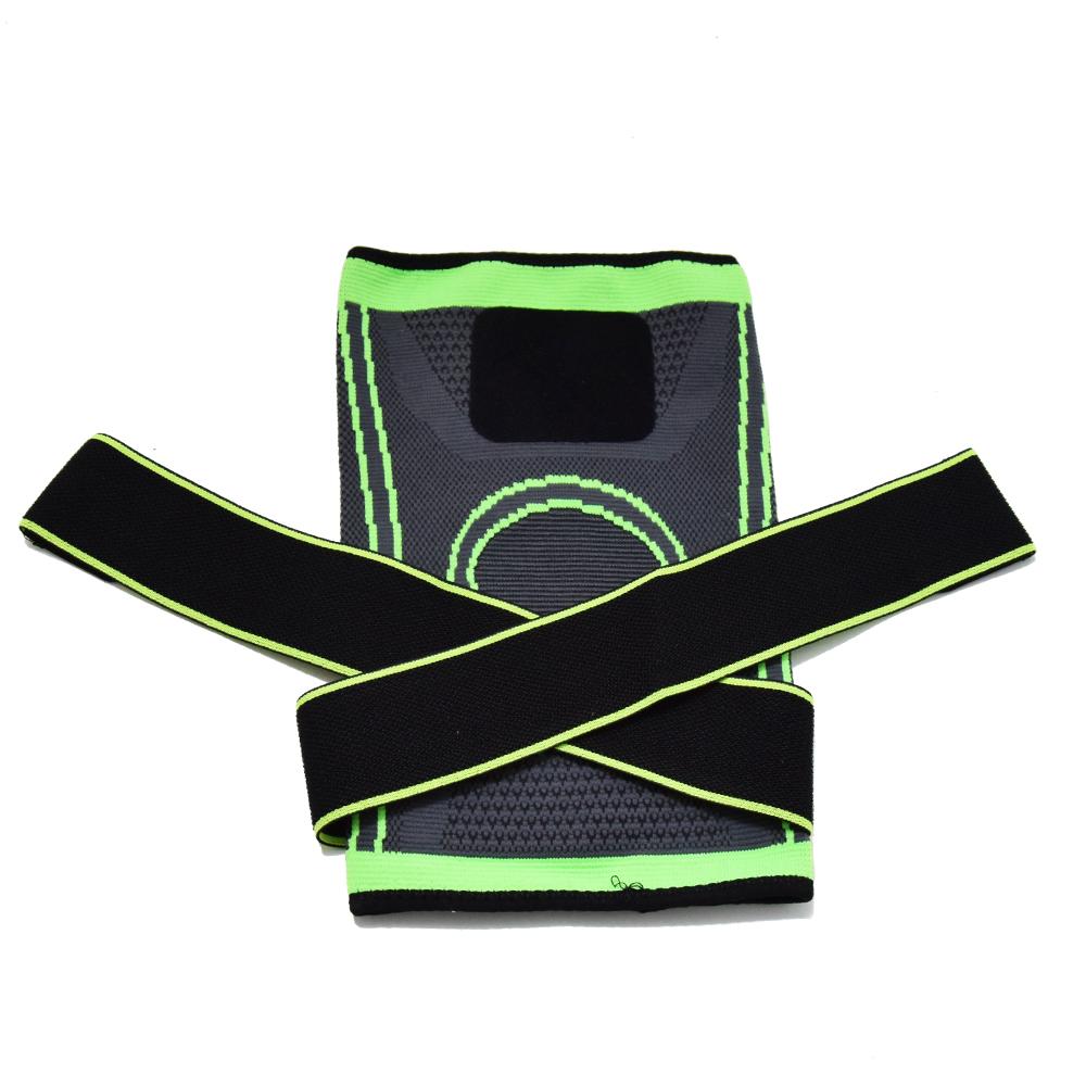 Kényelmes térdvédő pánt – zöld-fekete