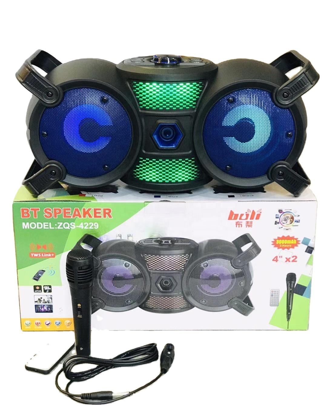 ZQS-4229 hordozható, akkus party hangszóró