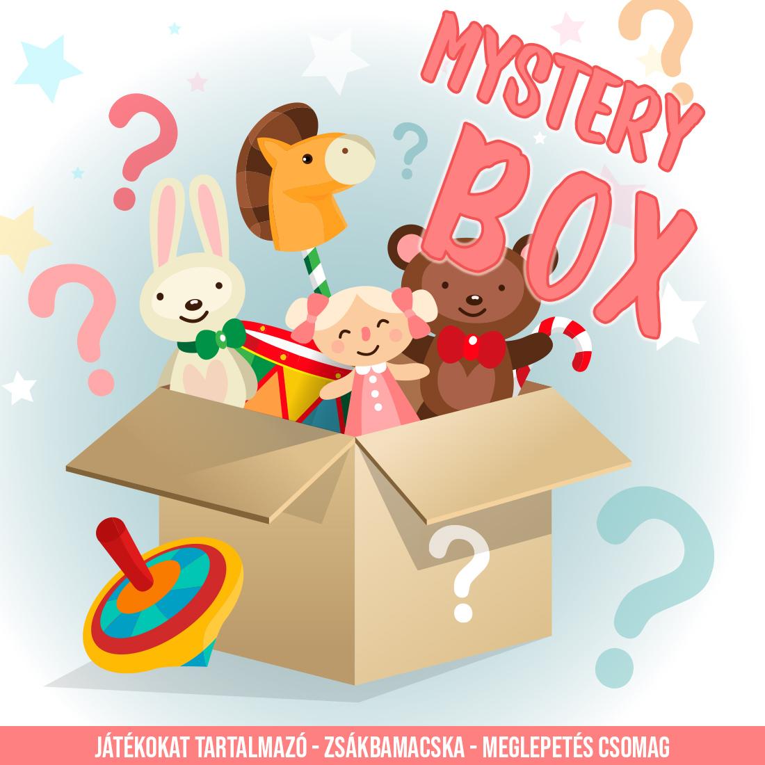 MYSTERY BOX (JÁTÉKOK) 10 db meglepetés termék 29990.-Ft helyett 9990.-Ft