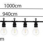 Dekor égősor, 20 db E27 LED lámpával – 10 méteres (5)